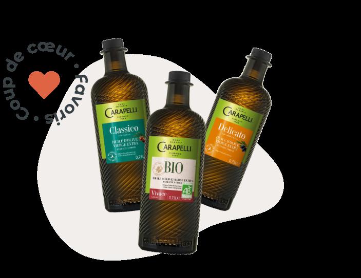Les huile d'olive Carapelli
