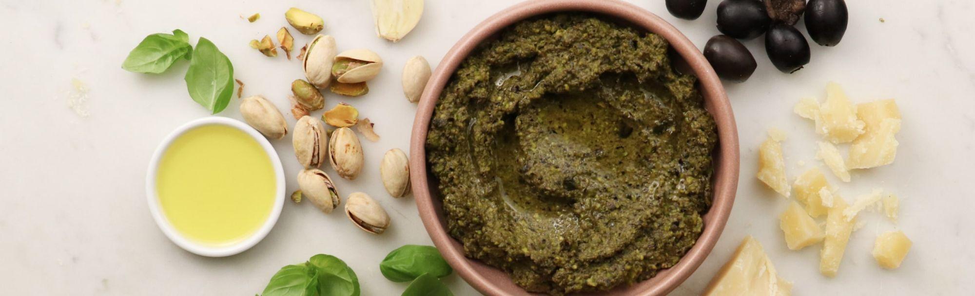 Recette de pesto aux olives